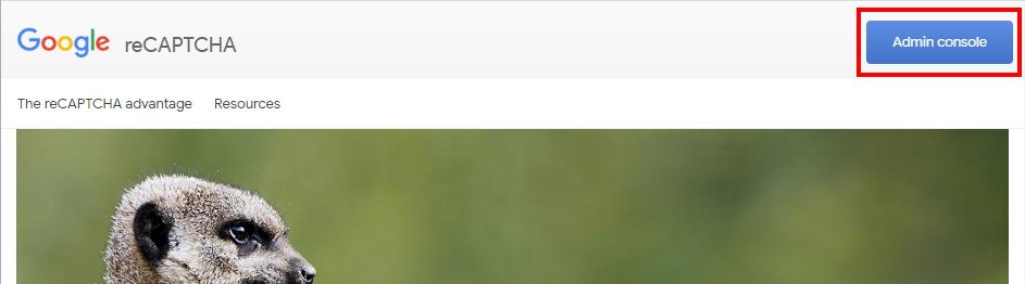 Google reCAPTCHA のトップページ
